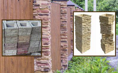 Столбы для забора из искусственного камня
