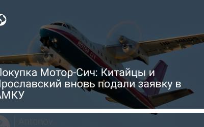 Покупка Мотор-Сич: Китайцы и Ярославский вновь подали заявку в АМКУ